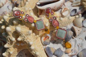 Ellemiek oorbellen: Pastel beauty in soutache