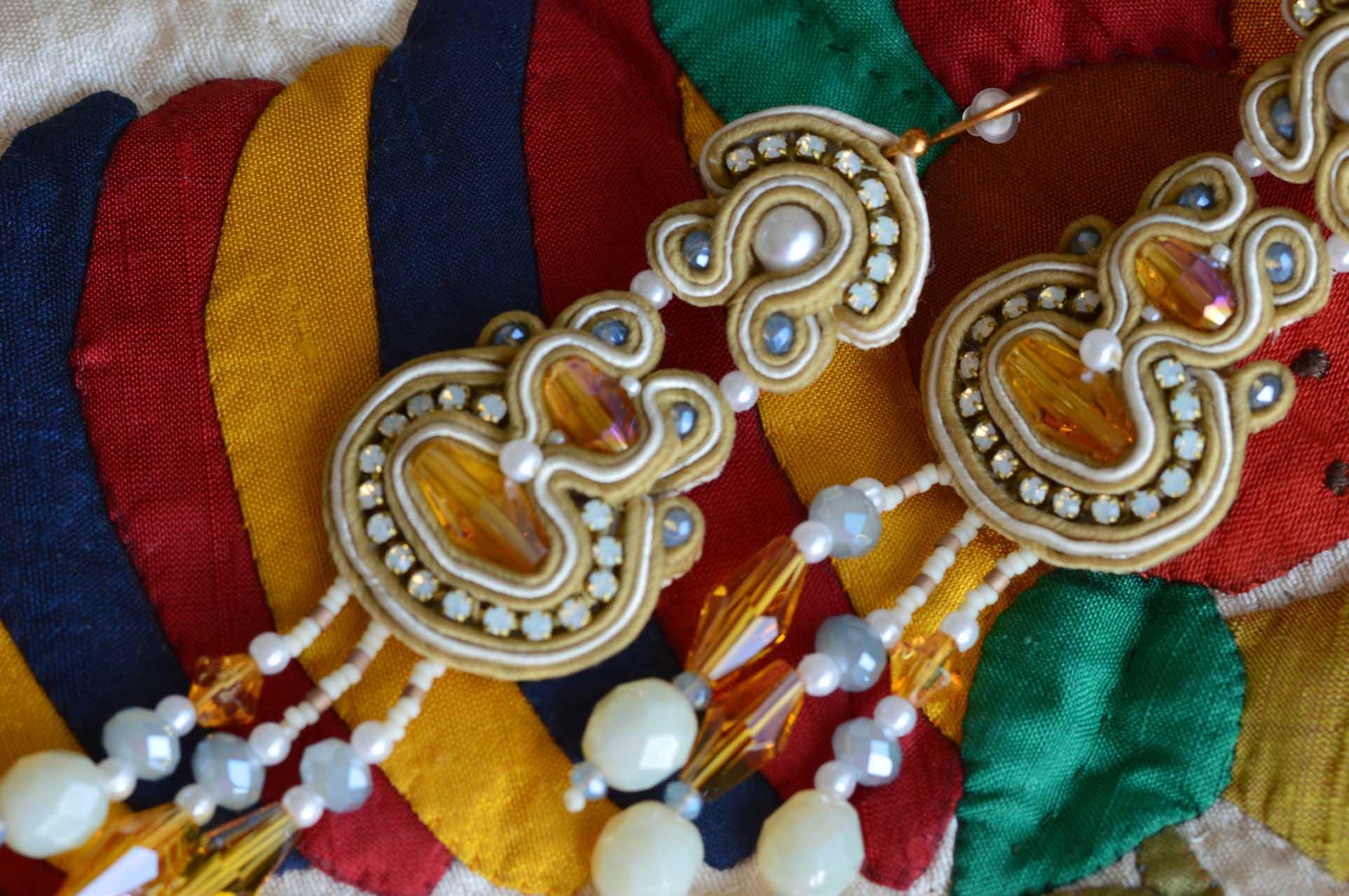 EEE oorbellen: Oorbel prinses op aplique quilt