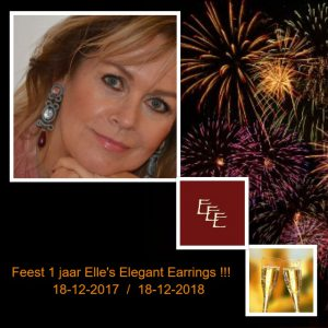 Feest !!! Elle's Elegant Earrings 1 jaar