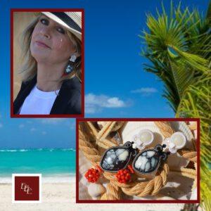 Handgemaakte oorbellen ' Tropical Delight '