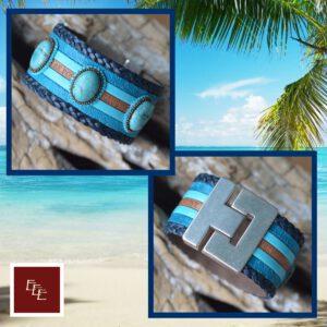 ' Bahama Blue '  & ' Bordeaux d'Or '