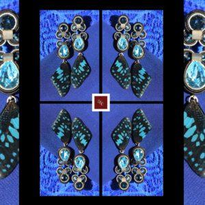 Papillon de Nuit – exclusieve handgemaakte vlindervleugel oorbellen van EEE