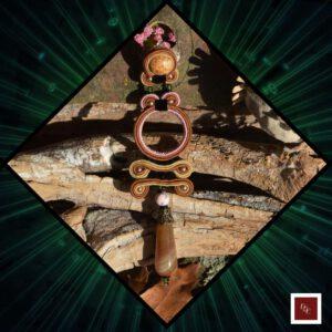Handgemaakte oorbellen: 'Taupe Treasure'